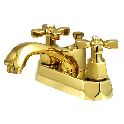 Metropolitan Double Handle Centerset Bathroom Faucet with Brass Pop-up Finish: Polished Brass