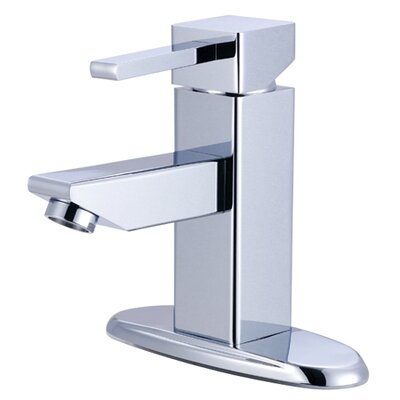 Claremont Single Handle Bathroom Faucet with Optional Deck Plate Finish: Polished Chrome