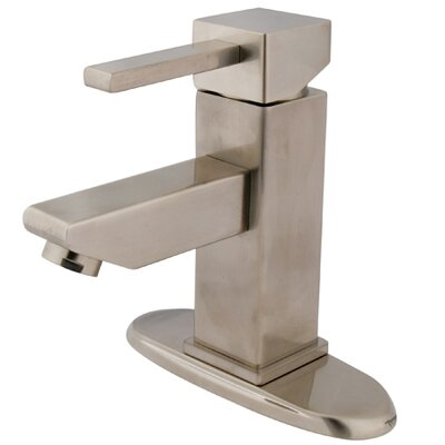 Claremont Single Handle Bathroom Faucet with Optional Deck Plate Finish: Satin Nickel