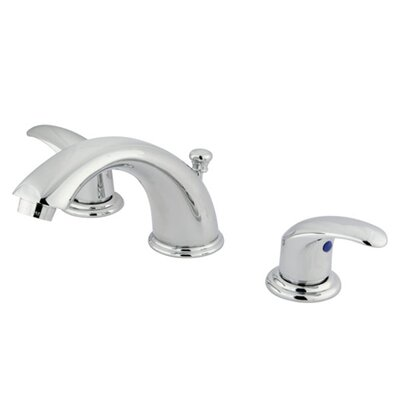 Legacy Double Handle Widespread Bathroom Faucet with Brass Pop-Up Drain Finish: Polished Chrome