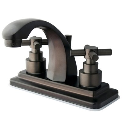 Elinvar Double Handle Centerset Bathroom Faucet with Brass Pop-Up Drain Finish: Oil Rubbed Bronze