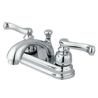 Royale Double Handle Centerset Bathroom Sink Faucet with Brass Pop-Up Drain Finish: Polished Chrome