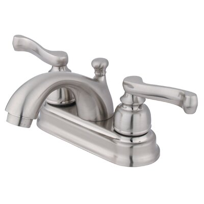 Royale Double Handle Centerset Bathroom Sink Faucet with Brass Pop-Up Drain Finish: Satin Nickel