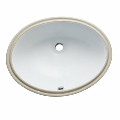 Courtyard Oval Undermount Bathroom Sink Finish: White
