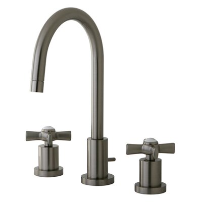Millennium Widespread Cross Handle Bathroom Faucet Finish: Satin Nickel
