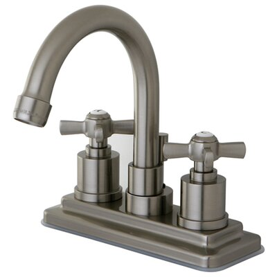 Millennium Double Handle Centerset Bathroom Faucet Finish: Satin Nickel