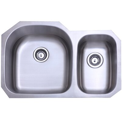 Seattle 20.69 x 31.5 Gourmetier Stainless Steel Double Bowl Undermount Kitchen Sink
