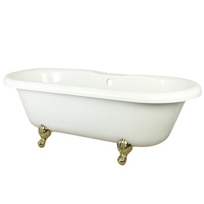 Aqua Eden Soaking Bathtub Finish: Polished Brass