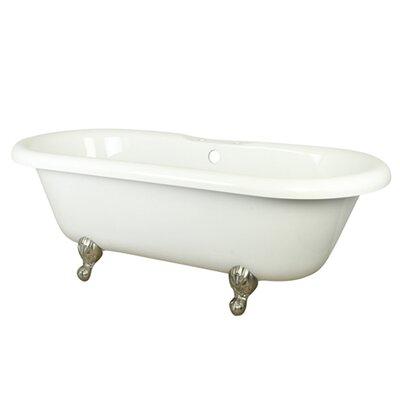 Aqua Eden Soaking Bathtub Finish: Satin Nickel