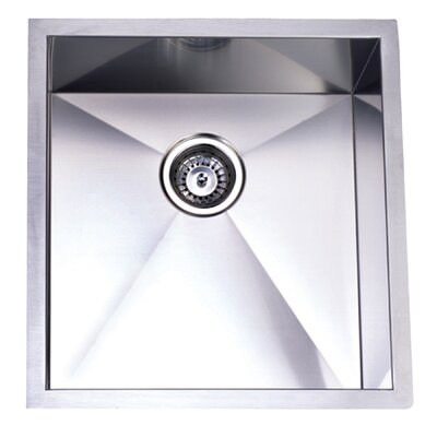 Towne Square 20.06 x 19 Gourmetier Stainless Steel Single Bowl Undermount Kitchen Sink