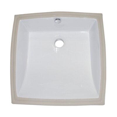 Cove Ceramic Square Undermount Bathroom Sink with Overflow Finish: White