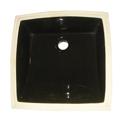Cove Ceramic Square Undermount Bathroom Sink with Overflow Finish: Black