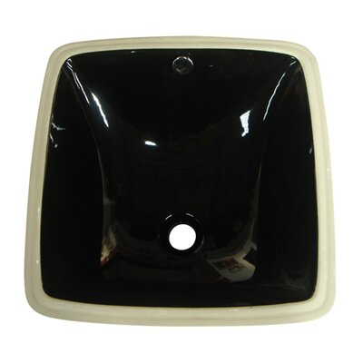 Vista Ceramic Square Undermount Bathroom Sink with Overflow Sink Finish: Black