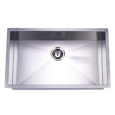 Towne Square 19 x 32 Gourmetier Stainless Steel Single Bowl Undermount Kitchen Sink