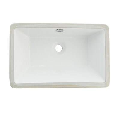 Castillo Rectangular Undermount Bathroom Sink