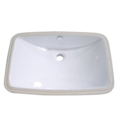 Forum Rectangular Undermount Bathroom Sink Sink Finish: White