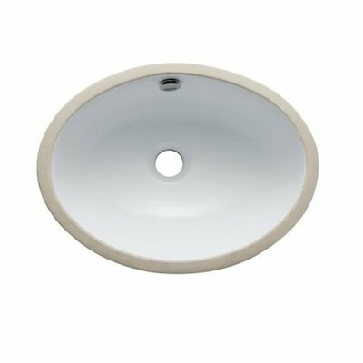 Marina Oval Undermount Bathroom Sink with Overflow Sink Finish: White