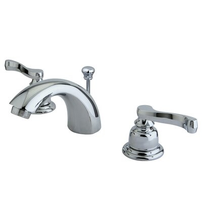 Royale Double Handle Widespread Mini Bathroom Faucet with Retail Pop-Up Drain Finish: Polished Chrome