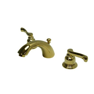 Royale Double Handle Widespread Mini Bathroom Faucet with Retail Pop-Up Drain Finish: Polished Brass