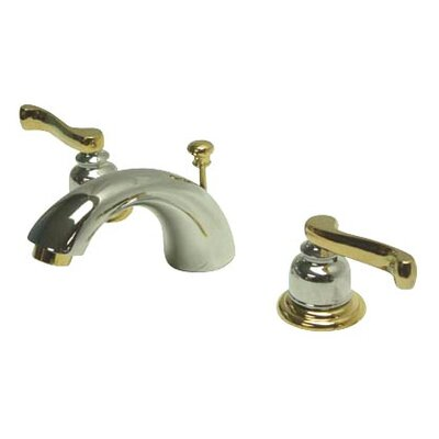 Royale Double Handle Widespread Mini Bathroom Faucet with Retail Pop-Up Drain Finish: Polished Chrome/Polished Brass