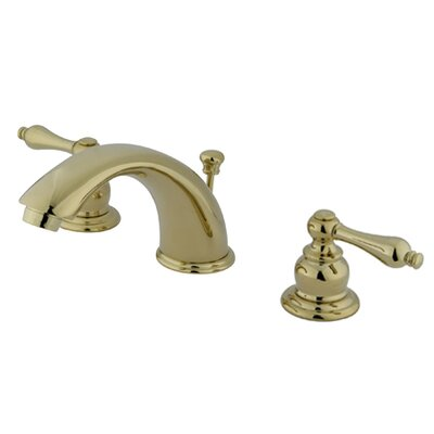 Victorian Widespread Double Handle Bathroom Faucet with Drain Assembly Finish: Polished Brass