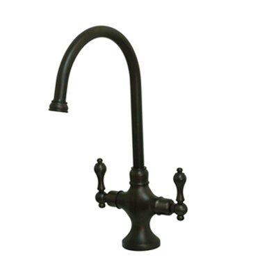 Vintage Double Handle Kitchen Faucet with Brass Side Sprayer Finish: Oil Rubbed Bronze, Side Spray: Without Side Spray