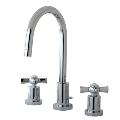 Millennium Widespread Cross Handle Bathroom Faucet Finish: Polished Chrome
