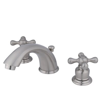 Magellan Double Handle Widespread Bathroom Faucet with ABS Pop-Up Drain Finish: Satin Nickel