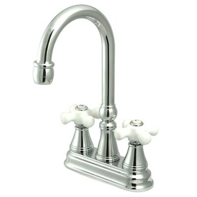 Governor Double Handle Centerset Bar Faucet Finish: Polished Chrome