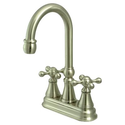 Governor Double Handle Kitchen Faucet Finish: Satin Nickel