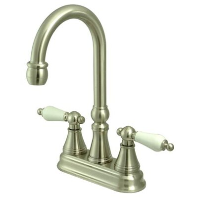 Governor Double Handle Centerset Bar Faucet Finish: Satin Nickel