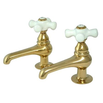 Restoration Double Handle Bathroom Sink Faucet Set Finish: Polished Brass