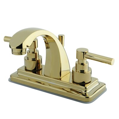 Elinvar Double Handle Centerset Bathroom Faucet with Brass Pop-Up Drain Finish: Polished Brass