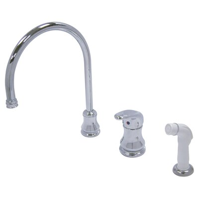 Wyndham Single Loop Handle Widespread Kitchen Faucet with Spray