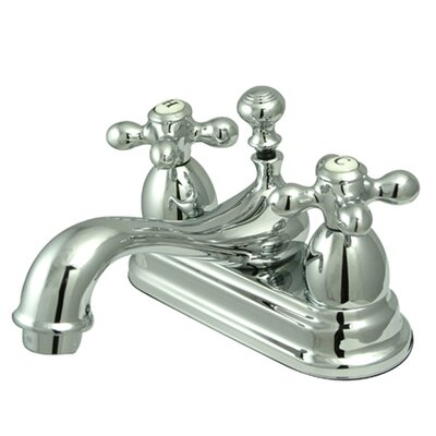 Restoration Double Handle Centerset Bathroom Sink Faucet with Brass Pop-up Finish: Polished Chrome