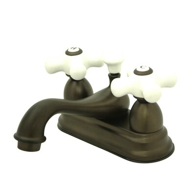 Restoration Double Handle Centerset Bathroom Sink Faucet with Brass Pop-up Finish: Oil Rubbed Bronze
