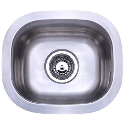Country 14.25 x 12.25 Gourmetier Single Bowl Undermount Kitchen Sink