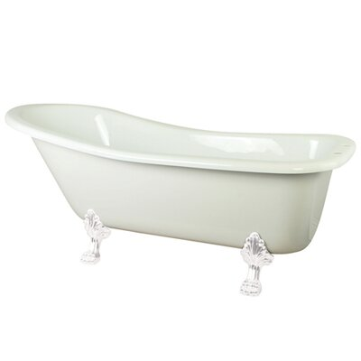 Aqua Eden Soaking Bathtub Finish: White