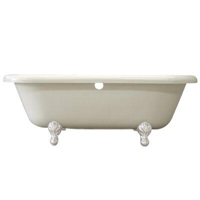 Aqua Eden Soaking Bathtub Finish: White