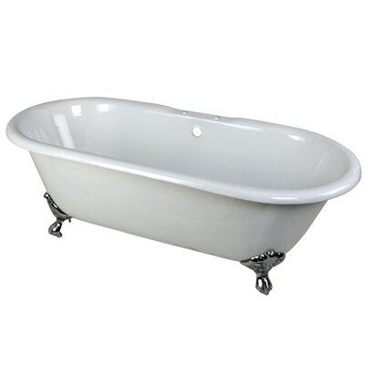 Aqua Eden Soaking Bathtub Finish: Polished Chrome