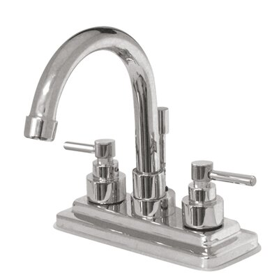 Elinvar Double Handle Centerset Bathroom Faucet with Brass Pop-Up Drain Finish: Polished Chrome