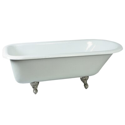 Aqua Eden Soaking Bathtub Finish: Satin Nickel