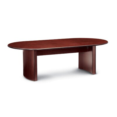 Global Oval Conference Table Finish: Black (Special Order), Size: 6 L