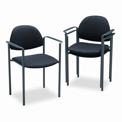 Comet Stacking Guest Chair (Set of 3) Color: Black