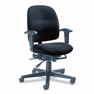 Image of Granada Multi Desk Chair Upholstery: Black