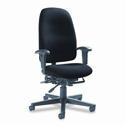 Image of Granada Desk Chair Upholstery: Black