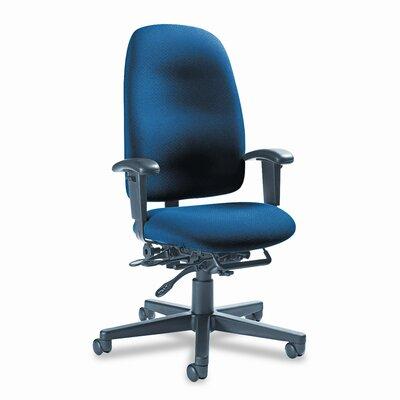 Image of Granada Desk Chair Upholstery: Sapphire