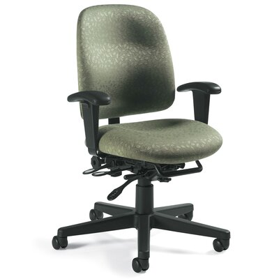 Global Total Office Granada Low-Back Pneumatic Multi-Tilter Office Chair - Fabric: Silhouette Asphalt at Sears.com