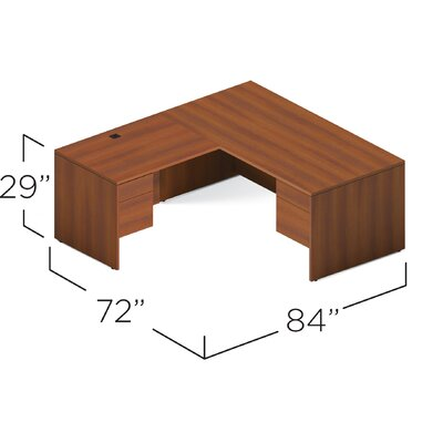 Left Flush Return L Shape Executive Desk Product Photo