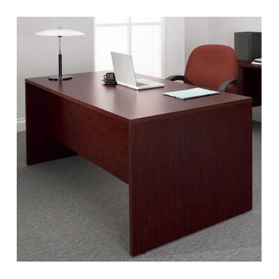 Genoa Executive Desk Double Pedestal Laminate Harvest Oak Product Photo